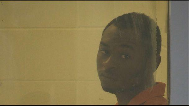 PHOTO: In this screen grab from video, Tevin Biles-Thomas is shown after his arrest. (ABC News)