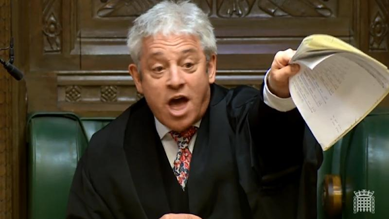 As Brexit ructions continue, House of Commons Speaker John Bercow has been criticised by cabinet ministers for how he has run some debates (AFP Photo/HO)