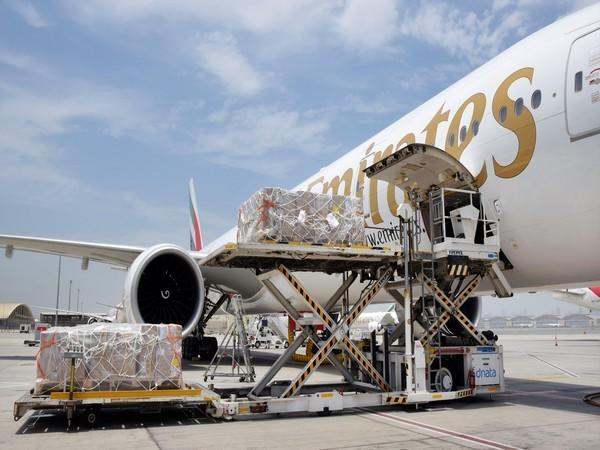 Dubai based airline transports COVID-19 relief materials for free of charges. (Twitter handle of Emirates airline)