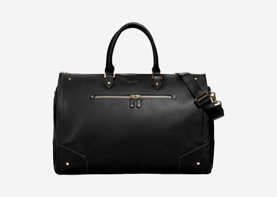 """<p>Whether you're planning for a quick business trip or a destination wedding, this luxe leather satchel makes packing those delicate, dry-clean-only outfits a breeze, thanks to a built-in garment section to help you avoid those unwanted wrinkles in your clothes. And unlike most structured leather bags, this one fully unzips and folds flat to a minimal 2.5 inches for easy storage in a travel off-season.</p> <p><strong>Buy now:</strong> <a href=""""https://fave.co/2sJxNWe"""" rel=""""nofollow noopener"""" target=""""_blank"""" data-ylk=""""slk:$640, hookandalbert.com"""" class=""""link rapid-noclick-resp"""">$640, hookandalbert.com</a></p>"""