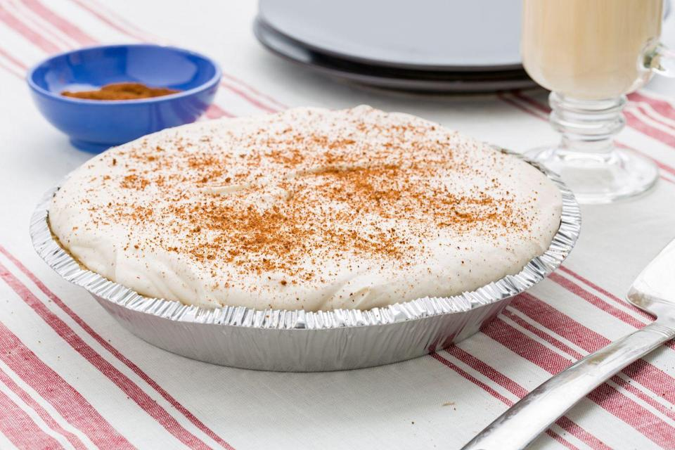 """<p>Whatever you feel about eggnog, this cheesecake will make you fall in love.</p><p>Get the recipe from <a href=""""https://www.delish.com/cooking/recipe-ideas/recipes/a45240/eggnog-no-bake-cheesecake-recipe/"""" rel=""""nofollow noopener"""" target=""""_blank"""" data-ylk=""""slk:Delish"""" class=""""link rapid-noclick-resp"""">Delish</a>. </p>"""