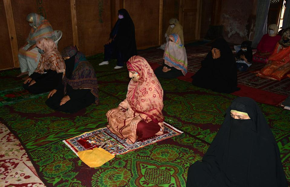 Prayer gatherings in Jammu and Kashmir were small and people offered prayers while adhering social distancing norms in view of the COVID pandemic.