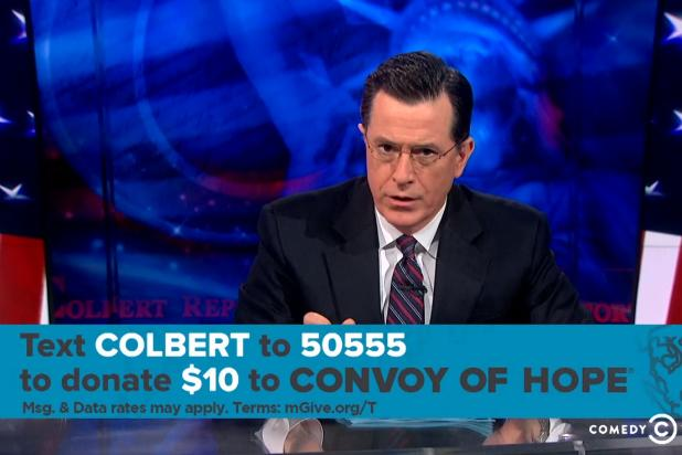 Stephen Colbert Tries to Top China's Typhoon Donation, 'Today' Show's Prostate Exam (Video)