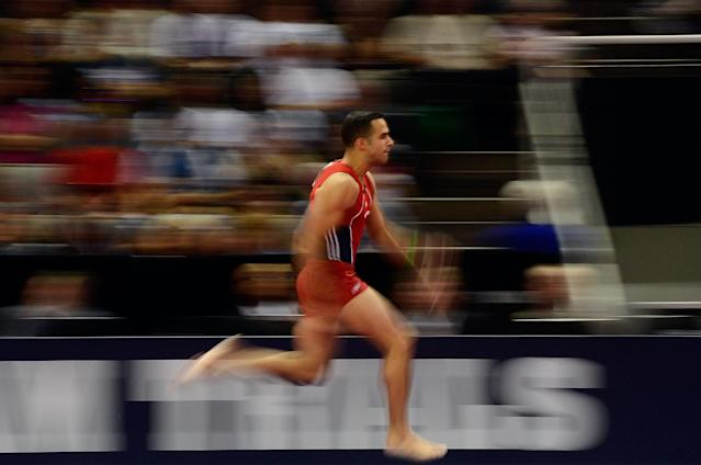 SAN JOSE, CA - JUNE 30: Danell Leyva competes in the vault during day 3 of the 2012 U.S. Olympic Gymnastics Team Trials at HP Pavilion on June 30, 2012 in San Jose, California. (Photo by Ronald Martinez/Getty Images)