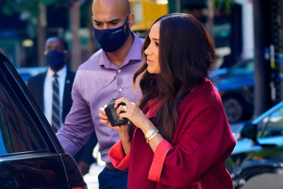 Meghan, Duchess of Sussex is seen on September 24, 2021 in New York City