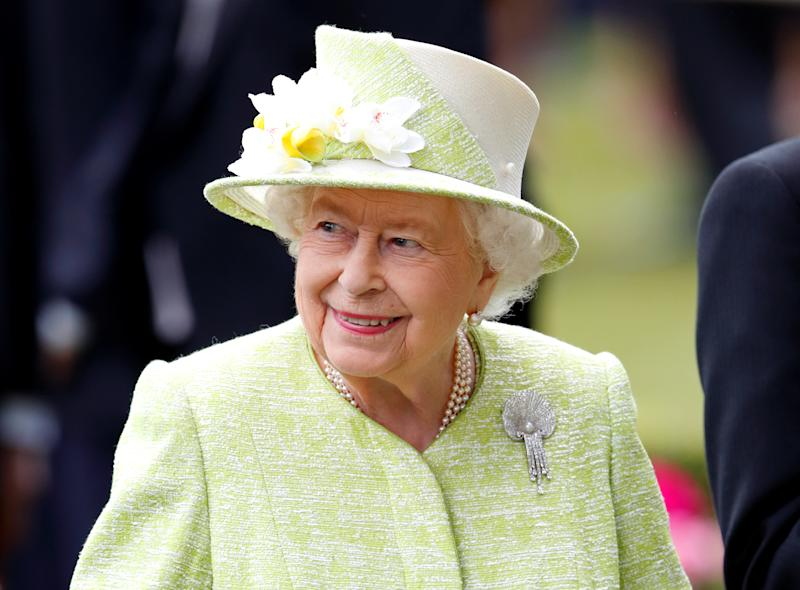 Queen Elizabeth II attends day five of Royal Ascot at Ascot Racecourse on June 22, 2019 in Ascot, England. (Photo by Max Mumby/Indigo/Getty Images)