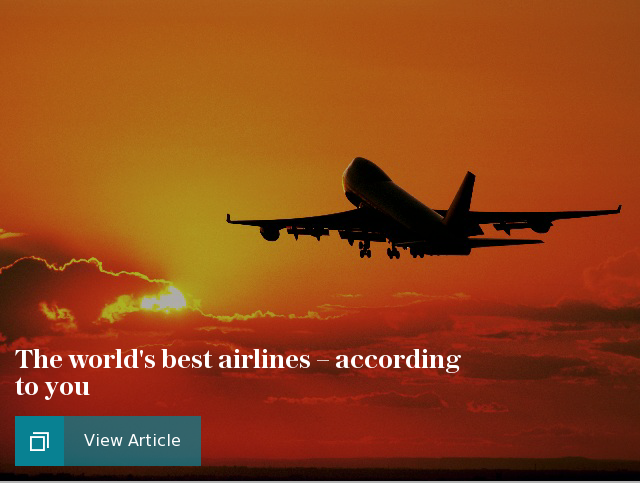 The world's best airlines - according to you