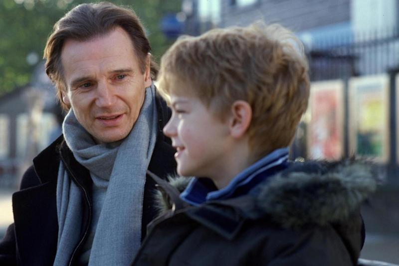Youngster: Thomas Brodie-Sangster with Liam Neeson in 2003 (2003 Universal Studios)