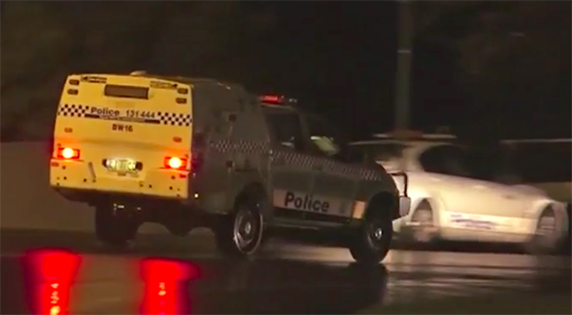 Police rushed to the scene of the accident. Source: 7 News