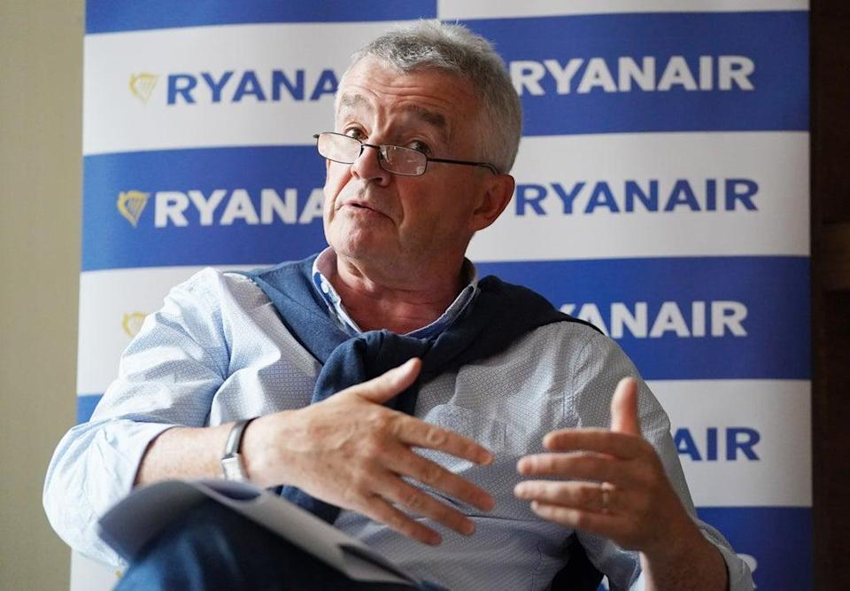 Ryanair boss Michael O'Leary said he aims to create 5,000 jobs over the next five years (Jonathan Brady/PA) (PA Wire)
