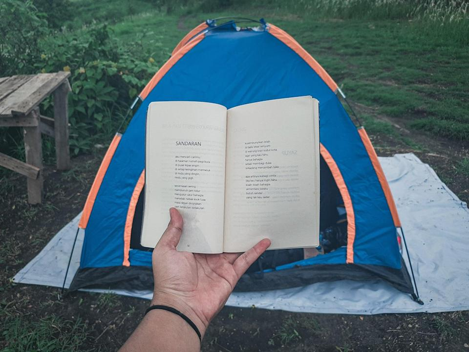 <p>Haul a tent out into the backyard, and change up your sleeping situation. Look at the stars, listen to nature, or tell ghost stories in the dark. If you don't have a tent, you can always just toss a sleeping bag in the grass and sleep there, but a tent might be a little more comfortable.</p>