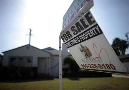 A foreclosed home is seen for sale in Santa Ana