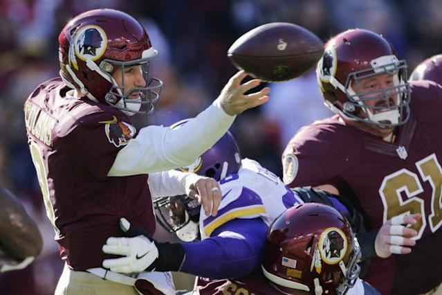 Kirk Cousins has a firm grasp of his bargaining position with the Redskins. (AP)