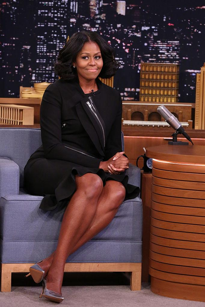 Michelle Obama on Jimmy Fallon. (Photo: Getty Images)