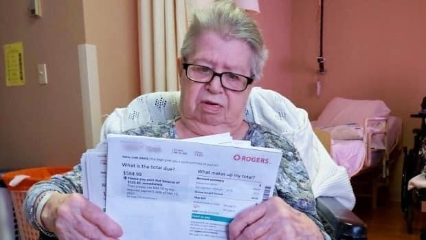 Rogers wanted 91-year-old Joan Davis to pay almost $565 for failing to return internet and phone equipment while her long-term care facility was under lockdown. (Submitted by Lori Davis - image credit)