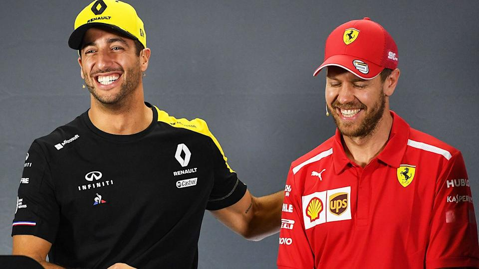 Australia's Daniel Ricciardo looks set to miss out on being named Sebastian Vettel's replacement at Ferrari. Pic: Getty