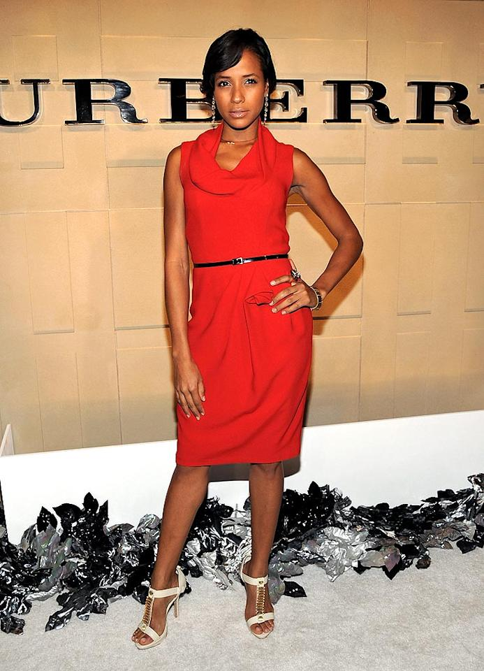 """Heroes"" hottie Dania Ramirez looks ravishing in bright red. Jordan Strauss/<a href=""http://www.wireimage.com"" target=""new"">WireImage.com</a> - October 20, 2008"