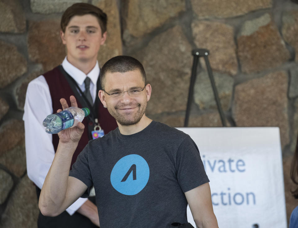 SUN VALLEY, ID - JULY 10: Max Levchin, co-founder of PayPal and chief executive officer of financial technology company Affirm, arrives at the Sun Valley Resort for the annual Allen & Company Sun Valley Conference, July 10, 2018 in Sun Valley, Idaho. Every July, some of the world's wealthiest and most powerful business people in media, finance, technology and political spheres converge at the Sun Valley Resort for the exclusive week-long conference. (Photo by Drew Angerer/Getty Images)