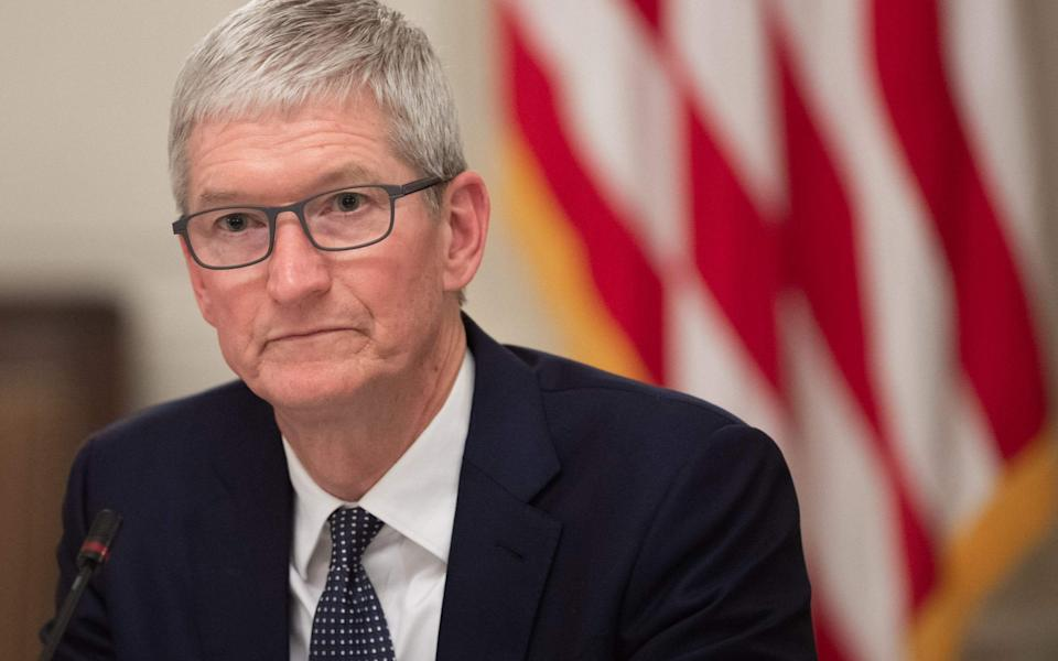 Apple chief executive Tim Cook - AFP