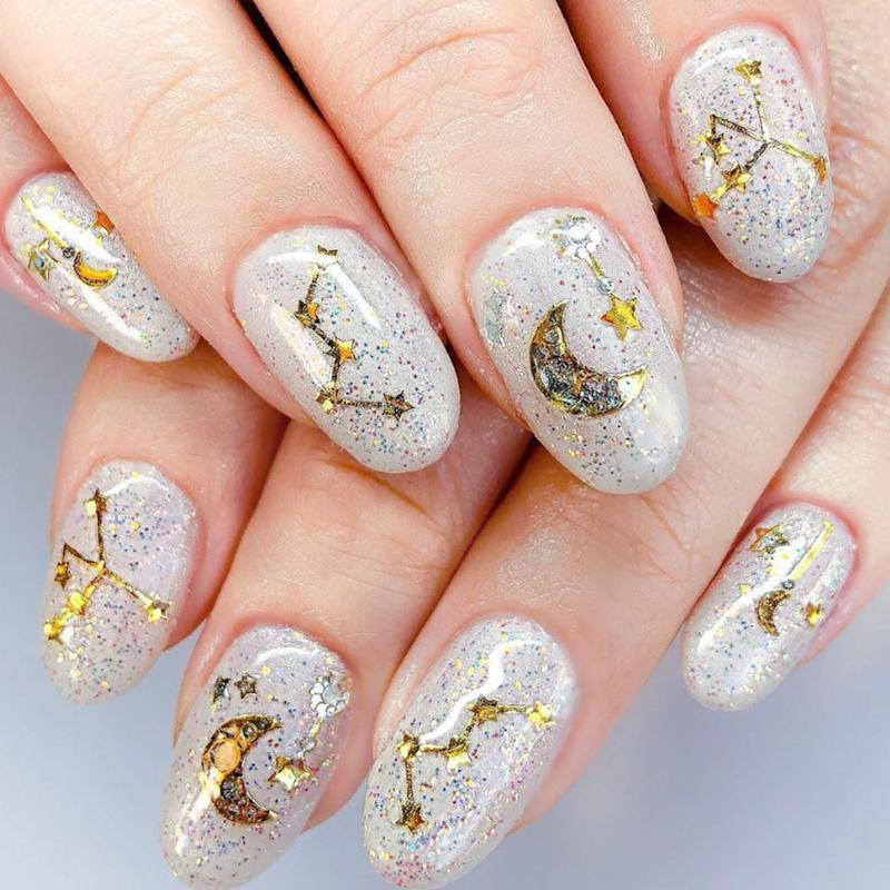 Nail Art Natal: Astrology Nails Are Trending, And They're Pretty Spectacular