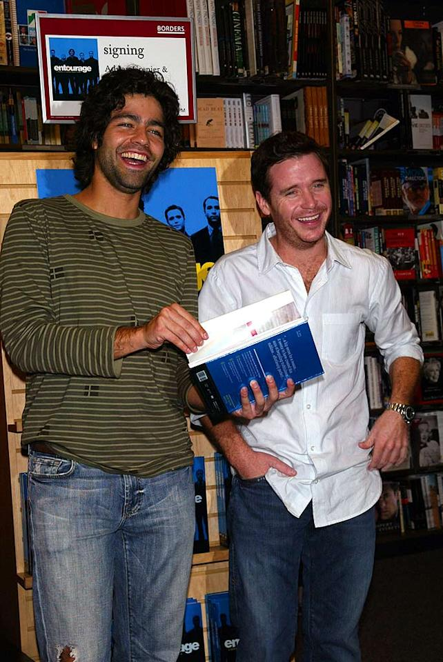 """Adrian Grenier and Kevin Connolly signed copies of """"Entourage: A Lifestyle is a Terrible Thing to Waste"""" at Borders Bookstore in New York City. ST/<a href=""""http://www.splashnewsonline.com"""" target=""""new"""">Splash News</a> - November 5, 2007"""