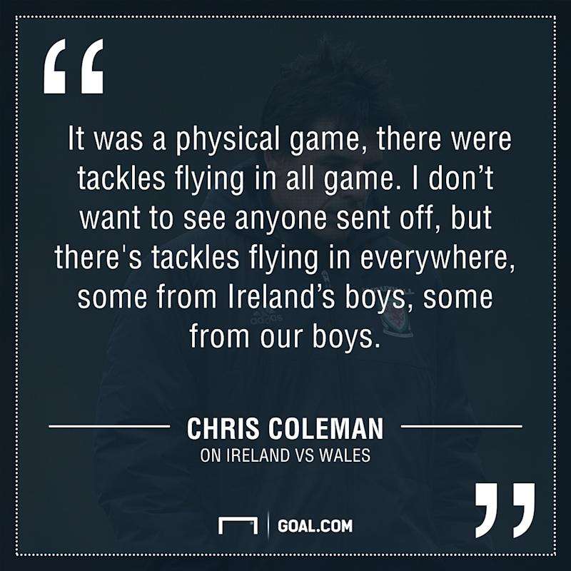 GFX Chris Coleman on Ireland vs Wales