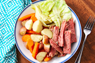 "<p>Honestly, boiled dinner is just another way of saying corned beef and cabbage.</p><p>Get the recipe from <a href=""https://www.delish.com/cooking/recipe-ideas/a26258638/easy-boiled-dinner-recipe/"" rel=""nofollow noopener"" target=""_blank"" data-ylk=""slk:Delish"" class=""link rapid-noclick-resp"">Delish</a>. </p>"