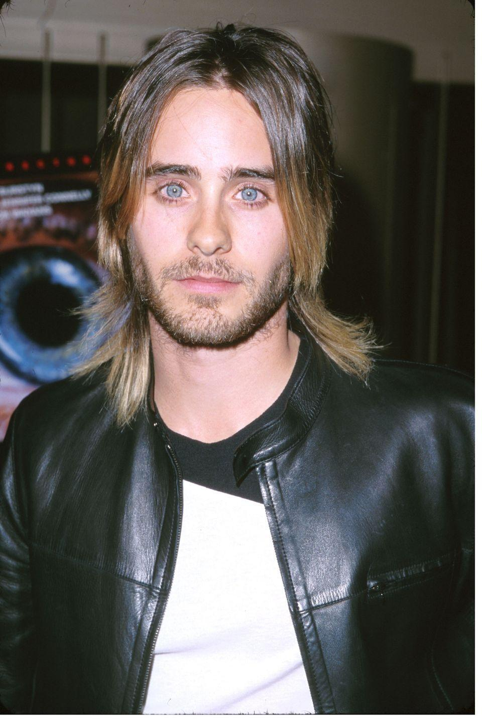 <p>Jared Leto is known for changing up his hair on the regular—most recently growing it out long with highlighted waves. But little did you know that now isn't the only time the actor had a longer look. Here he is in 2000 with a choppy cut.</p>