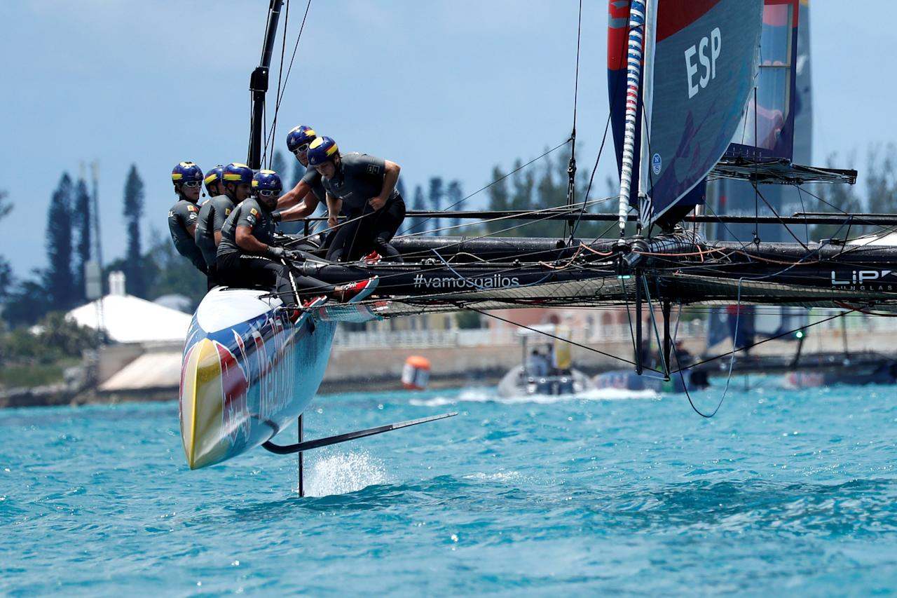Sailing - Youth America's Cup finals - Hamilton, Bermuda - June 21, 2017 - Spanish Impulse team competes in the Youth America's Cup finals. REUTERS/Mike Segar