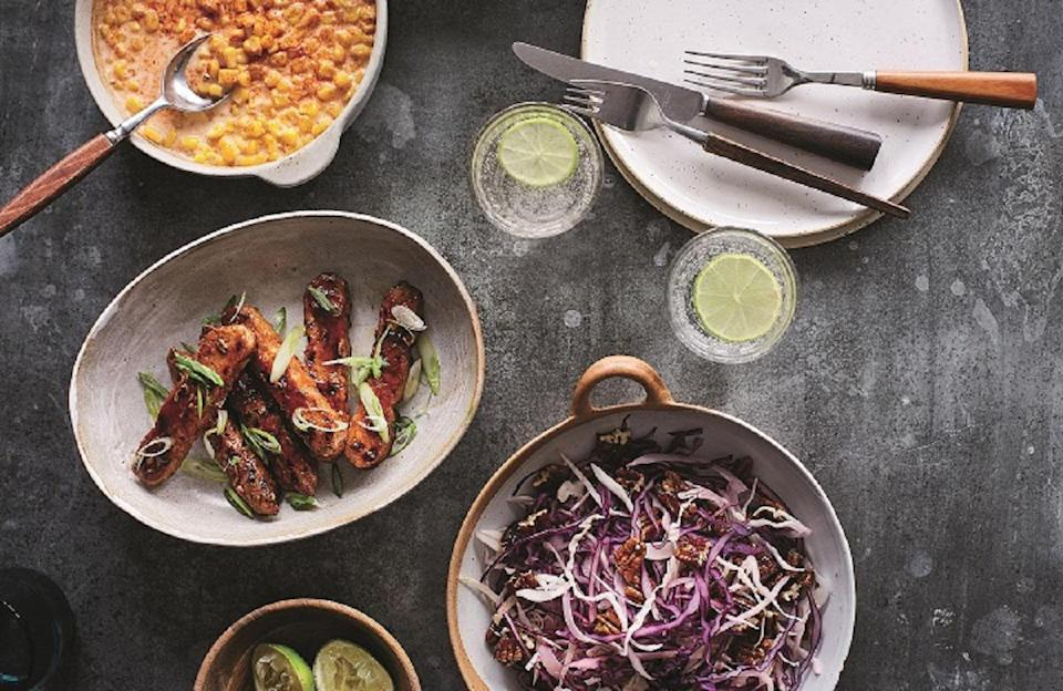 """<p>You read that right: ribs. <a href=""""https://www.thedailymeal.com/cook/all-about-tempeh-plus-5-tasty-recipes-slideshow?referrer=yahoo&category=beauty_food&include_utm=1&utm_medium=referral&utm_source=yahoo&utm_campaign=feed"""" rel=""""nofollow noopener"""" target=""""_blank"""" data-ylk=""""slk:Tempeh"""" class=""""link rapid-noclick-resp"""">Tempeh</a> is cut into strips and then tossed in a sweet and tangy barbecue sauce to create this amazing replication of beef or pork. This is a great meat alternative <a href=""""https://www.thedailymeal.com/entertain/25-best-party-foods-recipes-slideshow?referrer=yahoo&category=beauty_food&include_utm=1&utm_medium=referral&utm_source=yahoo&utm_campaign=feed"""" rel=""""nofollow noopener"""" target=""""_blank"""" data-ylk=""""slk:to serve at a cookout"""" class=""""link rapid-noclick-resp"""">to serve at a cookout</a> or tailgate.</p> <p><a href=""""https://www.thedailymeal.com/best-recipes/bbq-tempeh-ribs?referrer=yahoo&category=beauty_food&include_utm=1&utm_medium=referral&utm_source=yahoo&utm_campaign=feed"""" rel=""""nofollow noopener"""" target=""""_blank"""" data-ylk=""""slk:For the BBQ Tempeh Ribs recipe, click here."""" class=""""link rapid-noclick-resp"""">For the BBQ Tempeh Ribs recipe, click here.</a></p>"""
