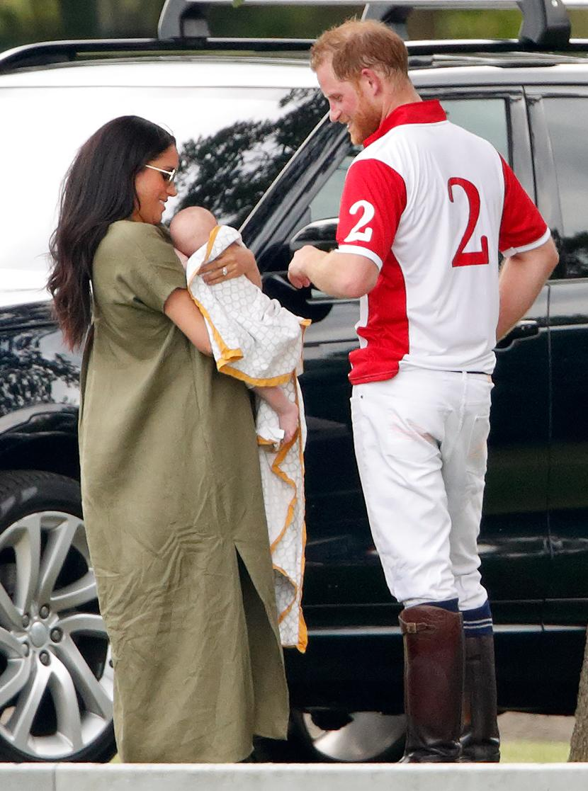 Meghan and Archie joined Kate and her three children at the charity polo match, which both Prince William and Prince Harry played in. <em>[Photo: Getty]</em>