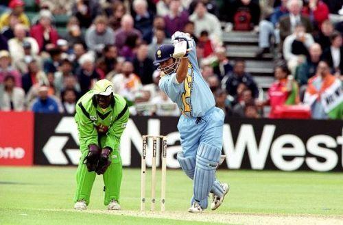 Sachin Tendulkar in action against Kenya