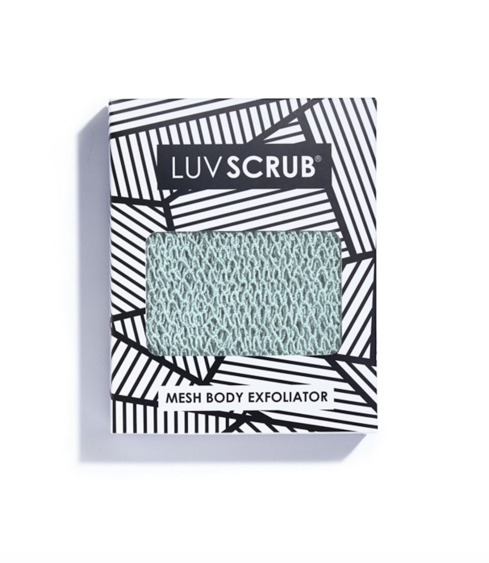 """<h3>Luv Scrub</h3><br>Say goodbye to the soggy, tattered loofa that's been taking up space in your shower caddy since college. You deserve better, and the Luv Scrub is it. These scrubby bath cloths are durable, beautiful (this mint color makes us happy every time we exfoliate our legs), and long enough to cover the awkward space on your back that you can never quite reach with your fingers. Founder Caroline Owusu-Ansah has been using the product since she was a young girl in Ghana, where they are ubiquitous, and realized in 2011 (after her friends kept stealing hers) that there was a demand in the market to bring the product to the U.S. Years later, that demand still shows no signs of slowing down, and the product has become a mainstay in our routines.<br><br><strong>Luv Scrub</strong> , $, available at <a href=""""https://go.skimresources.com/?id=30283X879131&url=https%3A%2F%2Fwww.theluvscrub.com%2Fshop%2Fsummershower"""" rel=""""nofollow noopener"""" target=""""_blank"""" data-ylk=""""slk:Luv Scrub"""" class=""""link rapid-noclick-resp"""">Luv Scrub</a>"""