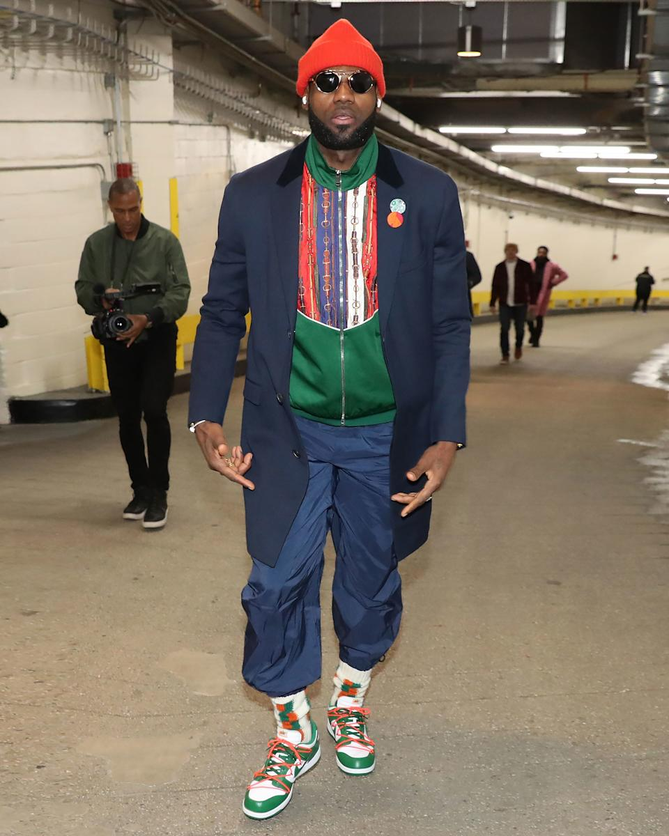 LeBron might live in LA now, but the kid from Akron knows how to dress for winter.
