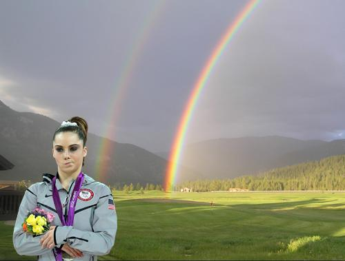 McKayla Maroney is not impressed with double rainbows.