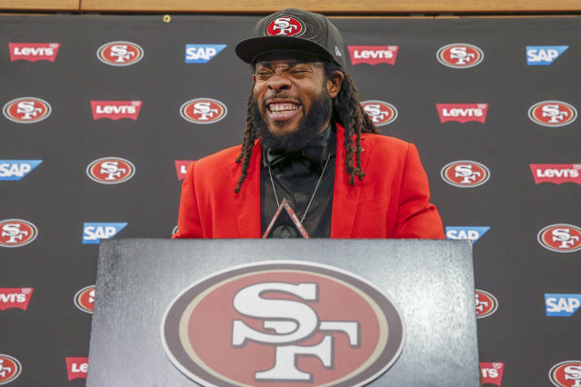 San Francisco 49ers cornerback Richard Sherman negotiated his own deal. (AP)