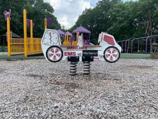 PHOTO: A ride-on toy at Where Angels Play Playground in Watertown, CT dedicated to Victoria Soto, a teacher at Sandy Hook Elementary School who died in the shooting on December 19th, 2012. (Michelle Franzen and Tara Gimbel / ABC News)