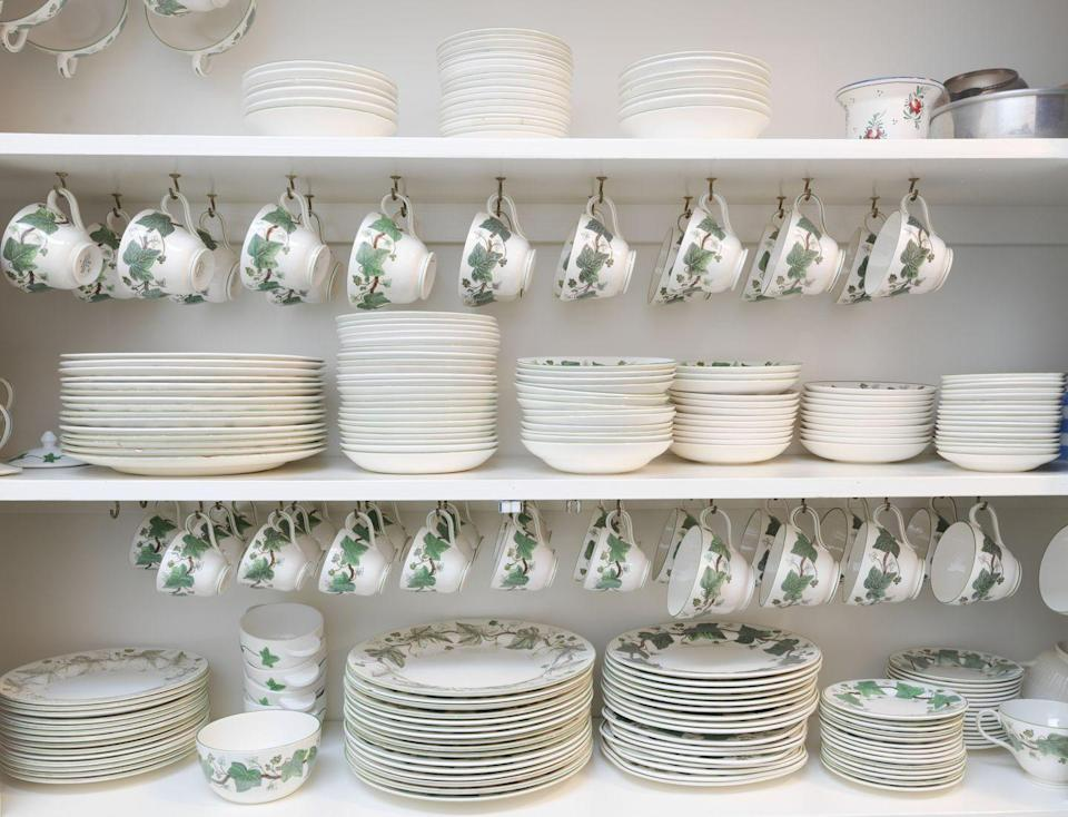 """<p>The finest china made, bone china can be valued at as much as $100 a piece. To ensure that the place setting you're looking over is bone china, <a href=""""https://homeguides.sfgate.com/out-value-fine-bone-china-104605.html"""" rel=""""nofollow noopener"""" target=""""_blank"""" data-ylk=""""slk:hold it up to the light"""" class=""""link rapid-noclick-resp"""">hold it up to the light</a>. If it appears nearly see through, it's bone china. The most valuable comes from England; look for a crown or similar emblem on the back to determine if it's British.</p>"""