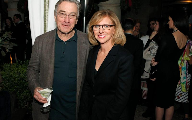 Robert De Niro and Nancy meyers attend a launch party at Chateau Marmont in 2012 - Getty Images