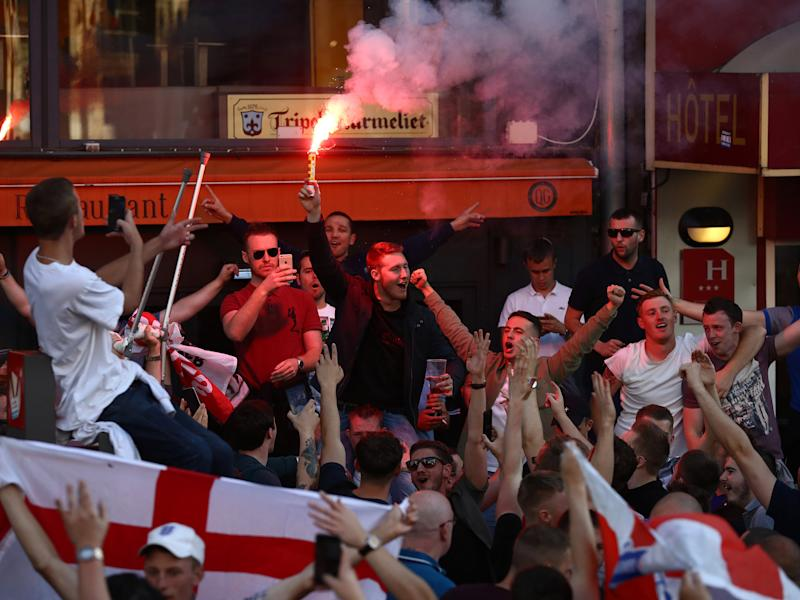 England fans clashed with Russian fans in France last summer: Getty