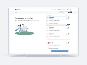 TrueCar Trade and Payments Badging on the TrueCar Marketplace