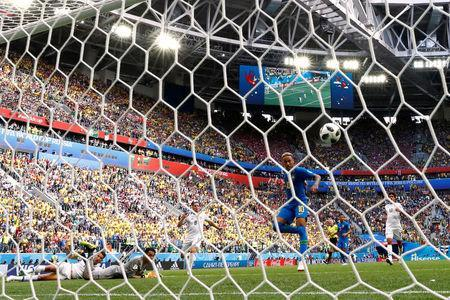 Soccer Football - World Cup - Group E - Brazil vs Costa Rica - Saint Petersburg Stadium, Saint Petersburg, Russia - June 22, 2018 Brazil's Neymar scores their second goal REUTERS/Max Rossi TPX IMAGES OF THE DAY - RC1D9C222E50