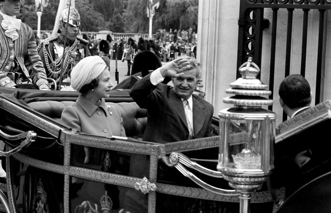 The Queen is said to have hid in a bush to avoid speaking to Romanian dictator Nicolae Ceausescu (PA)
