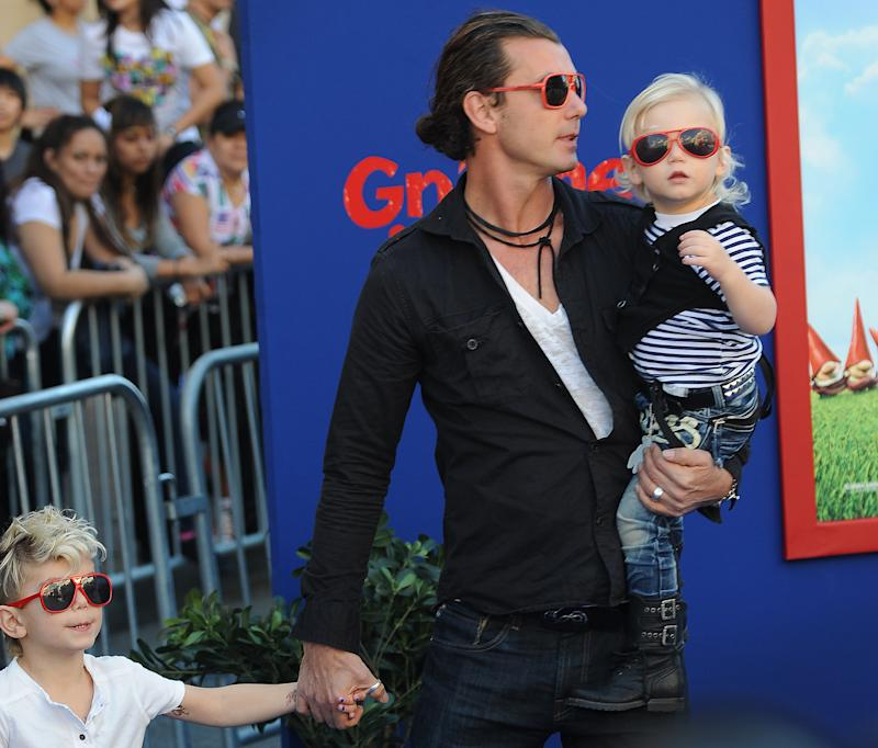 Gavin Rossdale with sons Kingston and Zuma in 2011. (Photo: Robyn Beck/AFP via Getty Images)