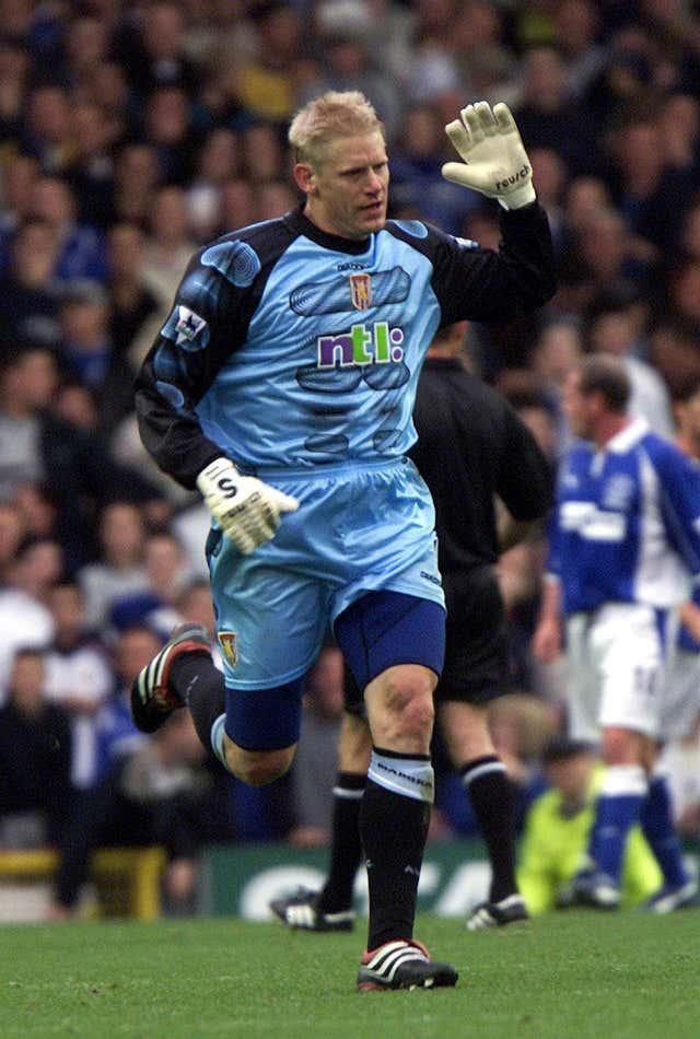 Schmeichel was the first goalkeeper to score in the Premier League