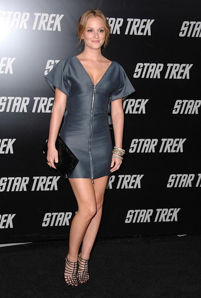 """<a href=""""http://movies.yahoo.com/movie/contributor/1807650409"""">Leighton Meester</a> at the Los Angeles premiere of <a href=""""http://movies.yahoo.com/movie/1809752801/info"""">Star Trek</a> - 04/30/2009"""