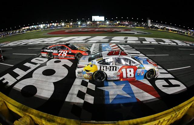"<a class=""link rapid-noclick-resp"" href=""/nascar/sprint/drivers/947/"" data-ylk=""slk:Kyle Busch"">Kyle Busch</a> (18) has five top fives in 12 races. (Getty)"