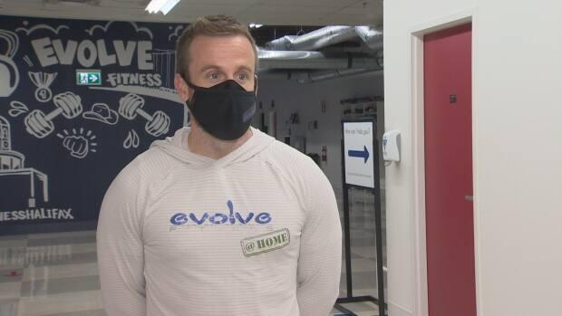 Mathew Benvie, co-owner of Evolve Fitness, said he wants his members to feel safe. ((Brian Mackay/CBC) - image credit)
