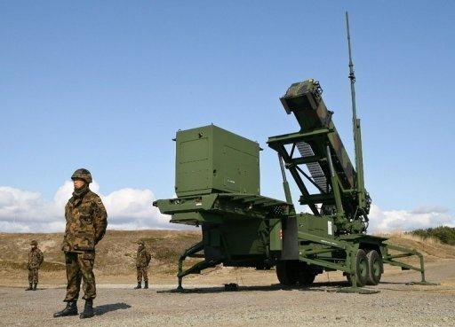 A Japanese Self-Defense Force Patriot interceptor missile launcher is deployed at a base in Akita city, northern Japan, in 2009. Japan has ordered its missile defence systems to be prepared ahead of a North Korean rocket launch
