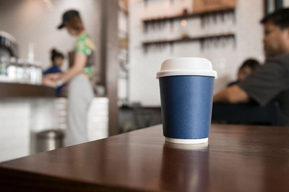 <p>Although it may not feel like it when you're dragging after lunch, caffeine can stay in your system for hours, Breus notes. Try to stop drinking the stuff by 2:00 p.m. or earlier, so it's out of your body by the time you're ready to sleep.</p>